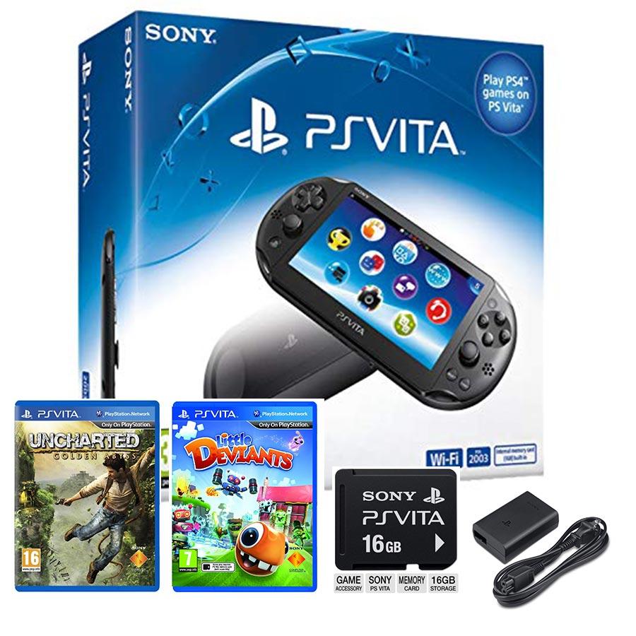 کنسول بازي سوني مدل PS Vita New Slim Model PCH-2016 WiFi Edition کارکرده قابلیت کپی خور دائم
